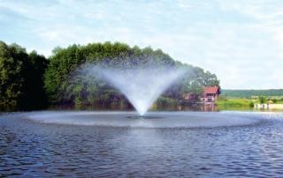 Aquaprism décoration plan d'eau forme corolle
