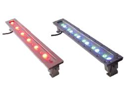 Projecteurs linéaires inox 18 LED immergeable