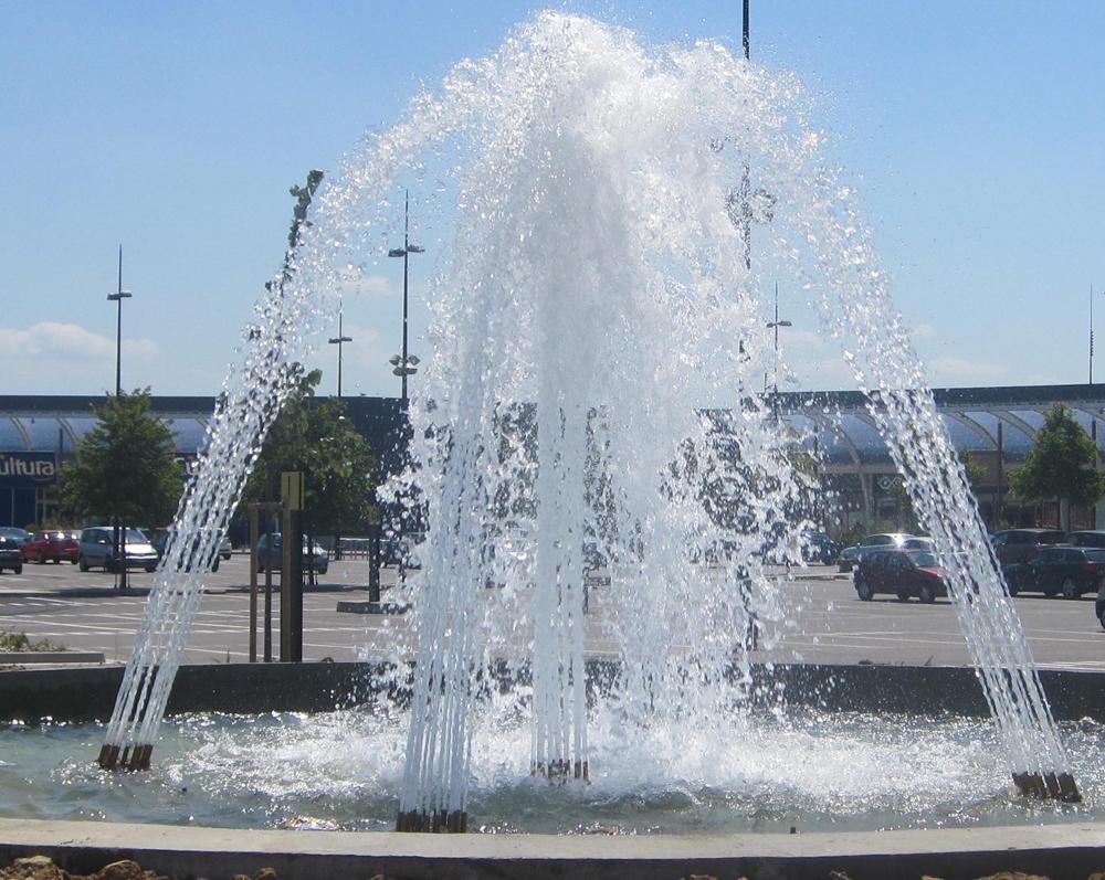Fontaine en bassin - Sénart (77) Aquaprism © Aquaprism