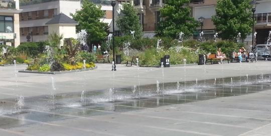 Fontaine animée Sartrouville par Aquaprism © Aquaprism