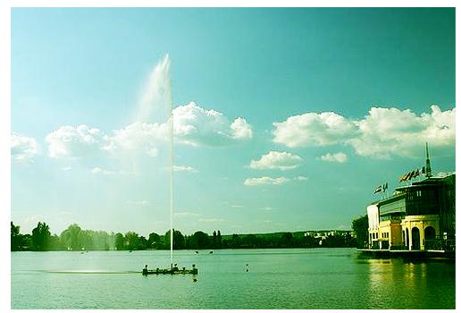 Jet d'eau lac d'Enghien (95)