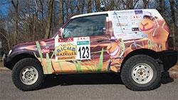 Voiture équipage 123 Rallye des Gazelles 2014